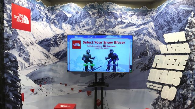 The North Face Indonesia Ski Interactive Game